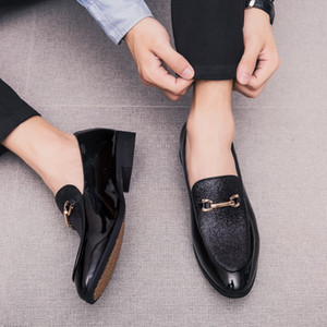 Fashion Pointed Toe business Dress Shoes Men Loafers Leather Oxford Shoes for Men Formal Mariage slip on Wedding party Shoes k4 201015