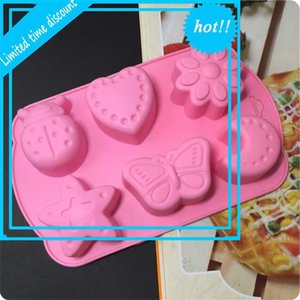 6 sets of insect moon silicone rice steamed cake model