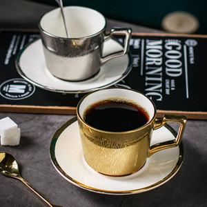 Северный стиль бытового смешивания Кубок креативной золотой чашки для чашки кофе набор в европейском стиле маленький роскошный день чашка чая