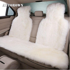 AUTOROWN Natural Sheepskin Car Seat Cover Four Seasons Automobiles Seat Covers Basic function Car Accessories For Universal