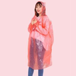 Thicken Disposable Raincoat Adult Children Emergency Waterproof Hood Poncho Travel Camping Must Rain Coat Unisex One-time Emergency Rainwear