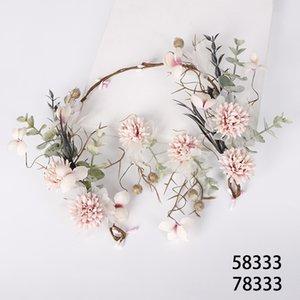 Hada Novia Tocado Adorno de pelo hecho a mano Mujeres Guirnalda Pendientes Frutas Set Jewelry J0121