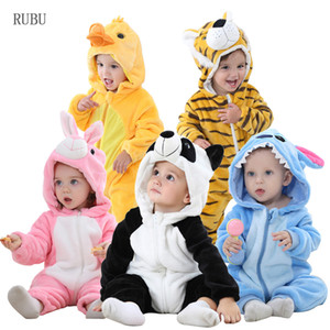 Baby Rompers Panda Newborn Clothes Baby Girls Boys Romper Infant Clothing Winter Jumpsuit Toddler Baby's Sets Unicorn Pajamas 201027