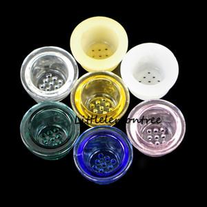 Couleur de gros Mix Accessoires pour Fumer remplacement écran bol en verre pour tube en silicone écran Honeycomb fumeurs