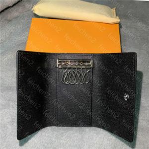 louis vuitton LV la alta calidad de las nuevas mujeres de los hombres clásicos 6 principales hombres de Keychain cubierta del soporte de la tarjeta con la bolsa box.dust A4 llavero