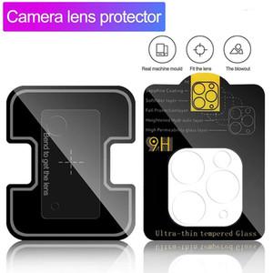 Для iPhone 12 Закрытый объектив камеры объектива для Samsung S21 Закаленное стекло Полная изогнутая чистая защитная пленка без пакета