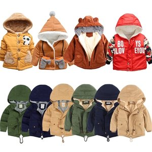 Children Autumn Winter Clothing Cartoon Thin Thick Hooded Down Jackets for Baby Boy Girls Fashion Warm Coat Baby Outwear 12M-10Y 201127