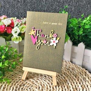 Talla de madera Manual Tarjeta de felicitación Mini de alta calidad Tarjetas de felicitación creativa Aplique Bendición Preciosa venta bien 1 28AY J1