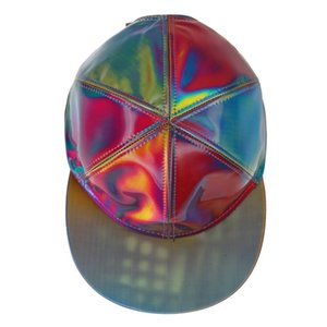 Back To The Future Part 2 Marty Mcfly Cosplay Snapback Hat Laser Color Changing Rainbow Adjustable Cap Y19070503
