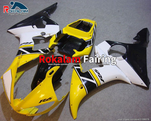 YZF600 R6 03 04 Fairings Kit For Yamaha YZF R6 2003 2004 Sport Motorcycle Yellow White Fairing (Injection Molding)
