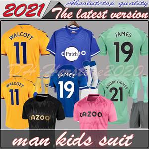 Uomini + kids Everton pullover di calcio 2020 2021 JAMES RICHARLISON SIGURDSSON KEAN 20 21 kit di calcio della camicia top André Gomes KEANE BERNARD Tosun