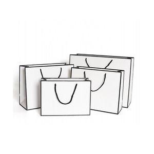 Kraft Paper Одежда Рука Сумка Анти Вода Белая Охрана Экологической Охрана Торговый Пакет Подарочная Tote Wrap New 1 86гр L2