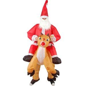Талисман надувной для взрослых мультфильм костюм реквизиты Santa платье кукол одежда езда олень северный олень Claus LLL UP рождественские надувные CVJEJ
