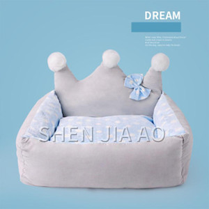 Big Crown Forma Cat Bed Four Seasons Universal Cat Sleeping Bed Small Dog Sleeping Nest Estilo creativo y perro Universal