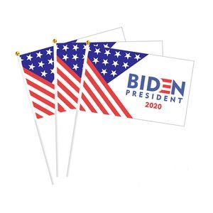 BIDEN Mano sventolando bandiera Biden Harris mano sventolando bandiera Banner Biden US Presidential Election 14 * 21cm8 trombettista sventolando flag ew2253