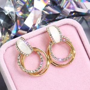New Season Popular Fashion Simple Earrings Rings Diamond-studded Earrings Wild Women Stud Earrings Trendy Fashion Jewelry