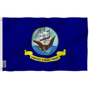Anley mosca Breeze 3x5 bandera de la marina de guerra del pie - Banderas naval de Estados Unidos Militar Poliéster Poliéster con arandelas de latón 3 x 5 pies C1002
