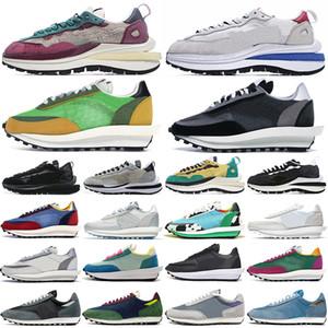 sacai ldv extérieur ldv gaufre vaporwaffle daybreak chaussures de course hommes femmes triple noir blanc nylon pin vert hommes formateurs baskets de sport