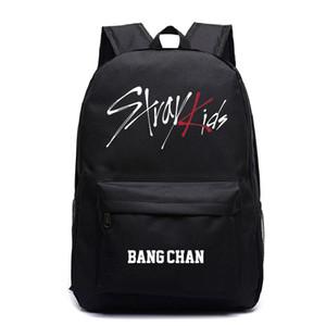 Le ragazze dei ragazzi dei backbags Stray bambini Jisung Stampe scuola adolescente Borse Laptop Backpack Mochilas Mujer viaggio Zaini Canvas Rugzak bbyNKh
