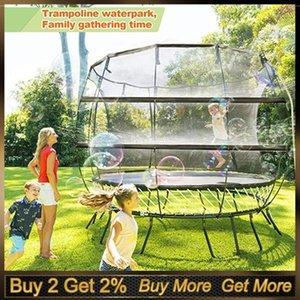 Trampolino Waterpark Sprinkler Best Outdoor Entertainment Summer Trampolines Giocattoli di irrigazione per bambini fuori gioco1