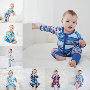 KT Wholesale 40 Colors INS Newest Designer Baby Rompers Newborn Boys Girls Floral Cartoon Climb Cloths Bebe Jumpsuits Onesies for 0-2T
