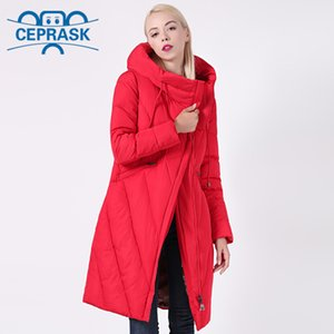 New Winter Coat Women Plus Size Long Windproof Collar Women Parka Stylish Hooded Thick Women's Jacket CEPRASK 201109
