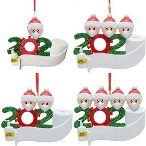Paper Toilet Decoration Survivor Mask Diy Greetings Christmas Pendant FDNT