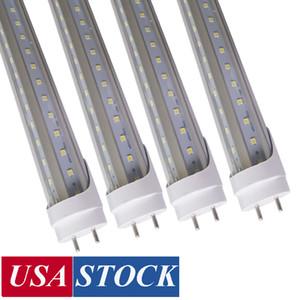 Сток в США поворотный конец T8 G13 4FT LED трубка 1,2 м света, 22 Вт 28 Вт 36W 72W TRAIC TRAIC DIMMABLE, прохладный белый светодиодный люминесцентные лампочки, AC85-277V