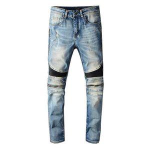 moda güzel yeni Erkekler ve Bayan pantolon motosiklet kot kot özel punk rock özel markalı yaka Retro degrade gen hip hop kot