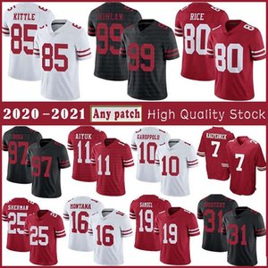 85 George Kittle 10 Jimmy Garoppolo Jersey Football 97 Nick Bosa 11 Brandon Aiyuk 25 Richard Sherman 80 Jerry Rice 16 Joe Montana 19 Samuel