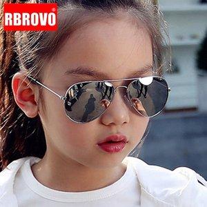 RBROVO 2021 Classic Sunglasses Girls Colorful Mirror Children Glasses Metal Frame Kids Travel Shopping Eyeglasses UV400