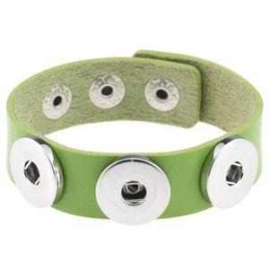 Botón multicolor broche de presión de los brazaletes de la manera DIY PU pulseras de cuero para las mujeres Snap Button joyas regalos de Navidad OWF2562