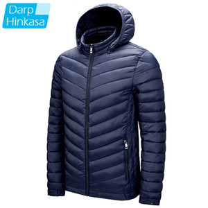 DARPHINKASA Men Winter Parka Coat Jacket Waterproof Hooded Hat Detachable Jacket Men Solid Color Ultra Light Women Parka Coat 201013