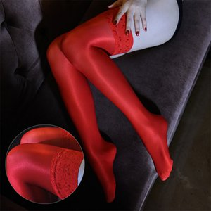 Safenh Sexy 70D Olio Glossy Shaping Pantyhose Shiny Satin Stoings Stile di Natale Antiscivolo Hosiery Dance Lingerie