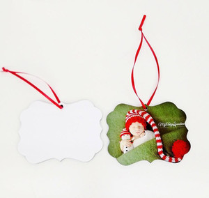 Retail Mdf Sublimation Blank Hanging Ornament For Christmas Double Sided Can Be Printed Blank Home Christmas Decor bbyvAl soif