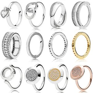 1 Pcs For Women 925 Sterling Silver Rings Rose Gold Winding Circle Crystal Finger Ring For Wedding Jewelry Gift 6 7 8 9 Size