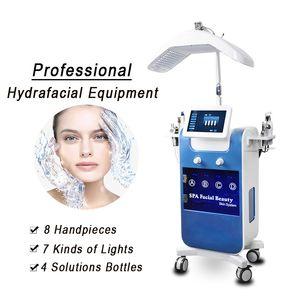 Microdermabrasión Hydro Dermabrasion Máquina Hidrofacial Piel Revitalizer Ultrasonón Facial Blackhead Extracción Máquina Reparación de colágeno