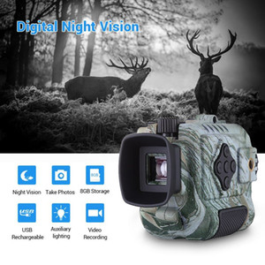 IR Infrared Mini Night Vision Digital Video Camera Monocular Scope 1-5X Zoom Camouflage Digital Night Vision Device for Hunting