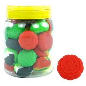 30pcs jar Silicone Container Glass bottle Display jar Silicon Jar for Wax Silicone Jar smoking pipe Fashion