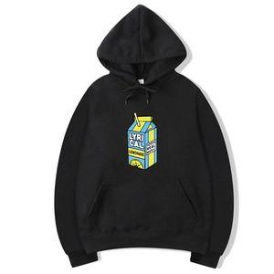 Lyrical Lemonade noir Hoodies Real Music drôle à capuche pour unisexe hommes / femmes Lyrical Lemonade casual pull avec capuche Sweatershirt