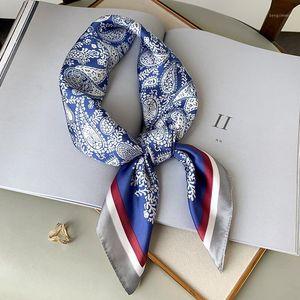 Summer Fashion Korean-style Cashew Small Square Towel Women's Imitated Silk Fabric Sun-resistant Silk Scarves Thin Shawl Decorat1