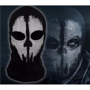 SzBlaZe Brand COD Ghosts Print Cotton Stocking Balaclava Mask Skullies Beanies For Halloween War Game Cosplay CS player Headgear Y201024
