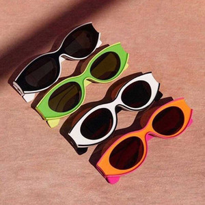 Personalisierte Sonnenbrille G616487X02 Frucht Farbe Sonnenbrille unregelmäßige Form Feld-Harz-Faserrahmen Konkav Design Einzigartiges Design mit Kasten