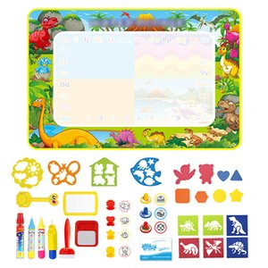 Kids Water Doodle Mat Dinosaur Style Drawing Mat Educational Toys Coloring Books Magic Painting Board Toys Set Children Gifts 201014