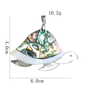 Kaplumbağa Hayvan Kolye Doğal Abalone Shell Kolye Charms Annesi Inci Shell Kolye Takı Bulguları Için Hediyeler H Hediyeler H BBYDJQ