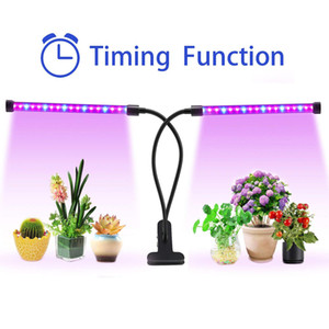 Tubo de dos luces de la planta ZX-MINI-30W crece ligero para las plantas de interior dividido ganso ajustable 2 Head Neck Clip-On Desk 40LED Negro