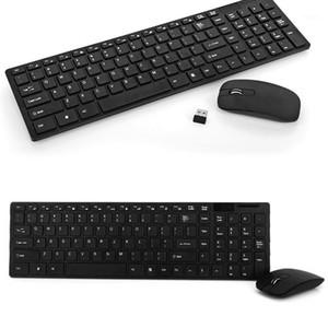 Teclado e mouse combo computador ergonômico 2.4g teclado sem fio com pc gamer mouse plug e jogar abs para pc laptop1