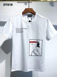 DSQ PHANTOM TURTLE 2021SS New Mens Designer T shirt Paris fashion Tshirts Summer DSQ Pattern T-shirt Male Top Quality 100% Cotton Top 1072