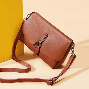 Design oblique cross bag ladies new fashion high quality leather shoulder bag lady sweet wind wild purple small square bag gift 1170