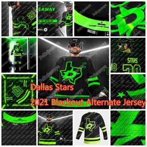 34 Denis Gurianov Dallas Stars 2021 apagón alternativo Jersey Tyler Seguin Jamie Benn Roope Heiskanen Hintz Klingberg Radulov Corey Perry